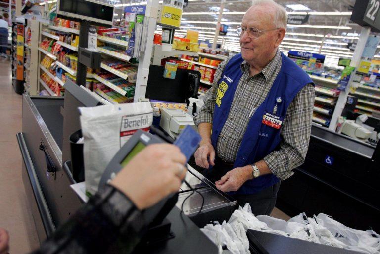 older adult working